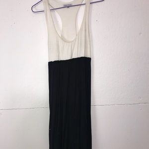 White and black summer dress